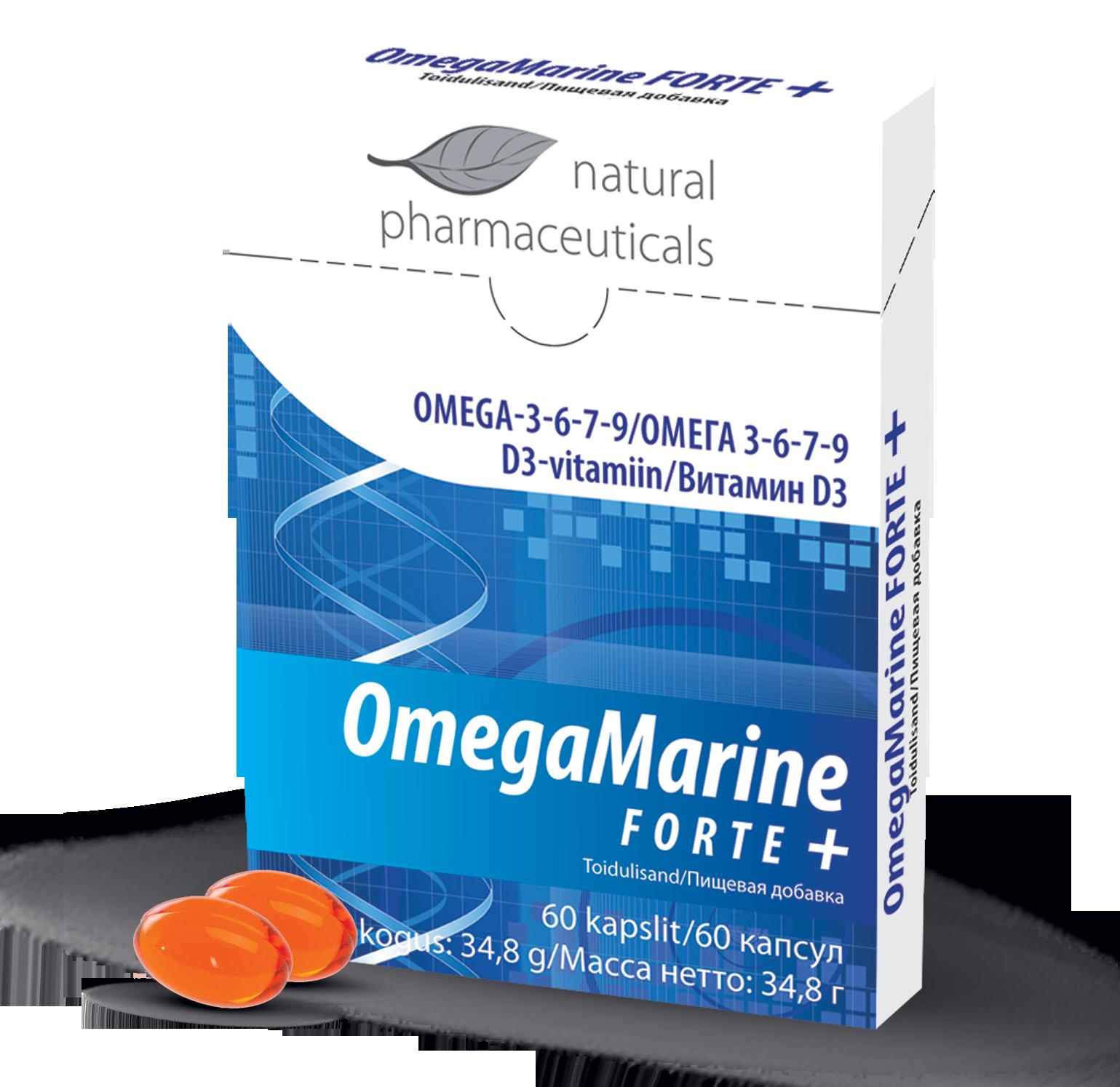 OmegaMarine FORTE+, 60 kapslit